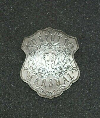 Antique Obsolete Ornate 1800s, Silver Plated  Badge Ingraved Scrolled Letters!