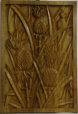 Tropical Hawaiian Teak Wood Carving (Pineapple)