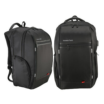 """15.6""""/ 17.6"""" Anmas Box Backpack Schoolbags Laptop Backpack USB Charge US Ship"""