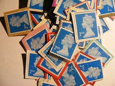 100 2nd class stamps unfranked                 (lot 473b)