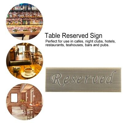 Stainless Steel Double Side Reserved Table Sign Booked Stand Reserve Seats