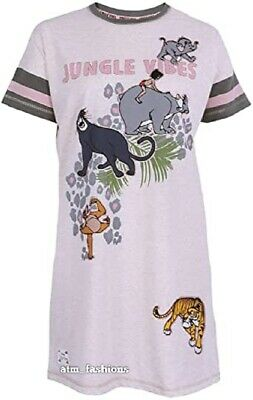 Primark Disney Ladies Women Girls The Jungle Book Nightie Nightshirt Sleepsuit
