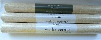 Laura Ashley x 3 Wallcovering Design:Percy Colour: Stone / has flaws