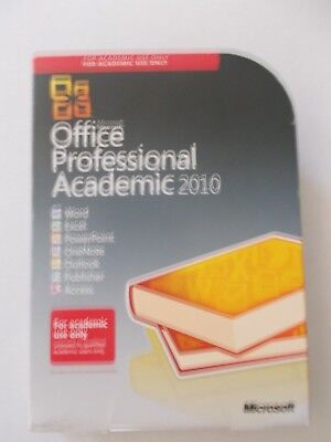 - Microsoft Office Professional Academic [2010] Software With Key