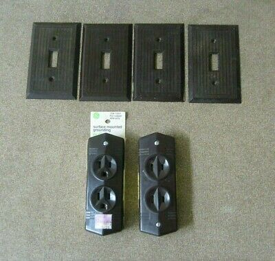 General Electric GE outlets and HUBBELL outlet plates Brown color