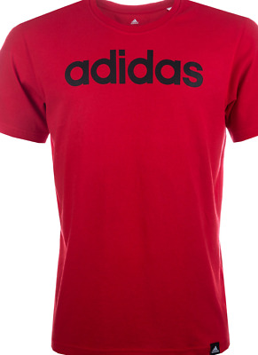 Adidas QQR Print Red T-Shirt Tee Men's UK Size Small *REF96*