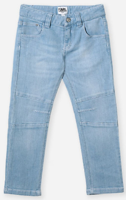 Karl Lagerfeld Kids Boys Light Blue Jeans Demin KARL Logo  REF95*
