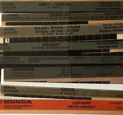 A Mixed Selection Of Honda Parts Microfiche As Per The Photo Below.