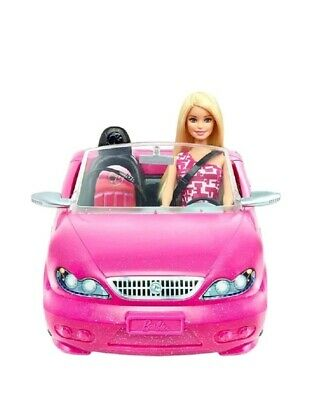Barbie Convertible Pink Car and Doll | Glam Doll Set | Official Barbie