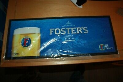 "Foster's - Official Bar Mat 23""Long - New Unused - Rubberised."