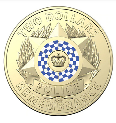 5 x Police Remembrance Day 2019 Color Coin's In RAM Bag