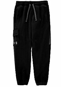 Under Armour Threadborne Kids Boys Fleece Jogging Bottoms Black Size L *REF95*