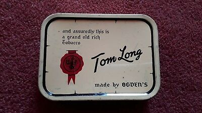 1930 tobacco Tin Tom LONG by ogdens smoking cigarette vintage