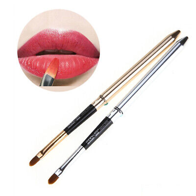 Folding Golden Silver lips Makeup brush With Metal Handle Cosmetic Lip gloss.