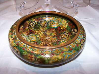 BRUSHWASHER SILVER WIRE? QING MILLE FLEUR  Chinese antique cloisonne  BOWL