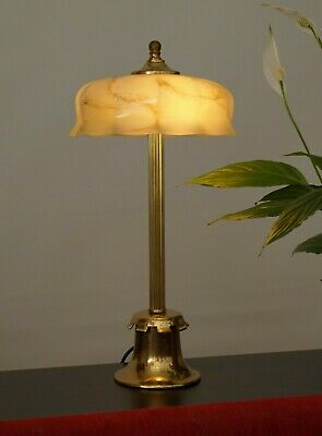 Beautiful Unique Art Deco Table Lamp Brass Lamp Banker's Lamp Lamp Berlin