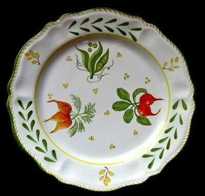 "Deruta L'antica Hand Painted Majilly Italian Fresh Vegetable 15"" Serving Platter"