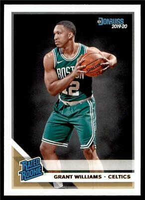 2019-20 Donruss Rated Rookie Base #221 Grant Williams RC - Boston Celtics