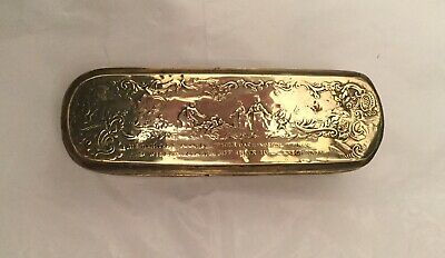 Antique Brass And Copper Tobacco Box.
