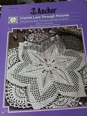RARE 1991 Anchor Crochet Lace Through Pictures Pattern Booklet by Yolo Suzuki