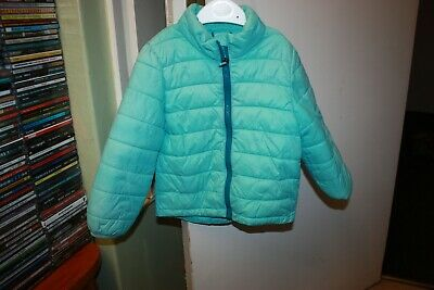 Girls Pale Blue  Quilted H & M Sport Jacket  Child Size Eur98 - Zip Front