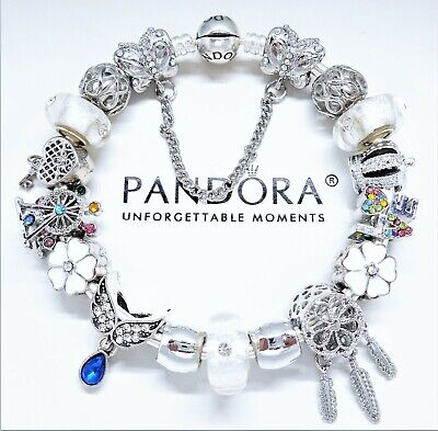 Authentic Pandora Charm Bracelet Silver LOVE STORY with European Charms