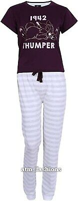 Primark Disney Bambi Thumper Top & Striped Long Bottoms Pyjama Set for Ladies