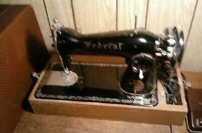 Vintage Federal Sewing Machine 1951 Deluxe Model