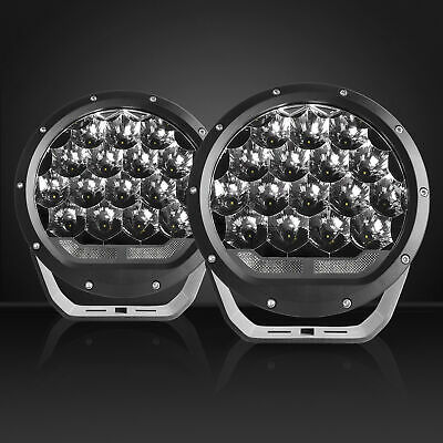Pair 7 inch CREE SPOT LED Driving Lights Round Off Road 4x4 4WD Spotlights Black
