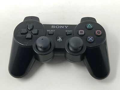 Official Sony PlayStation 3 PS3 Wireless Dualshock Sixaxis Controller Black OEM