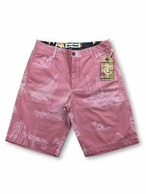 Tailor Vintage shorts in pink sailboat design FAULTY M
