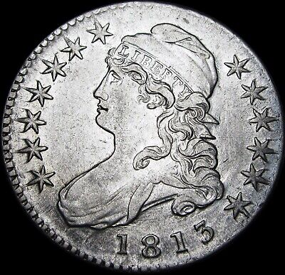 1813 Capped Bust Half Dollar  ---- Silver US Type Coin ----  #T520