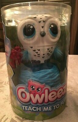 Owleez Interactive Flying Pet OWL Drone Helicopter lights and sound WHITE - toy