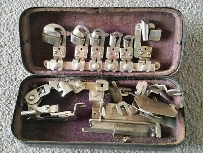 Vintage White Rotary Electric Sewing Machine Box Of Accessories
