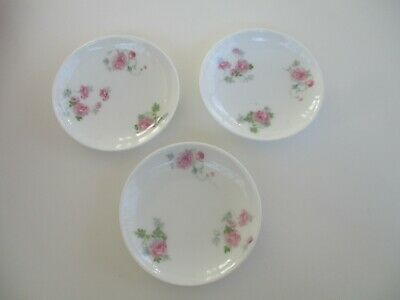 D & Co Limoges France Lot of 3 Porcelain Butter Pats 1880 - 1900