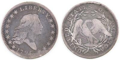 1795 Flowing Hair Type -- Rare early coinage -- 299,680 minted