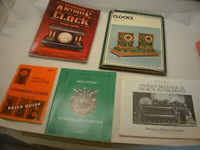 Book 1,126 – Lot of 5 clock and music box books