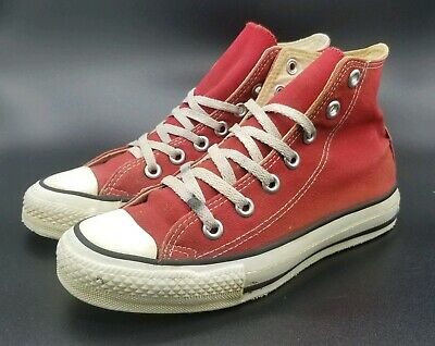Vintage 1980s Converse Red All Star High Top Shoes size 4.5 GREAT CONDITION