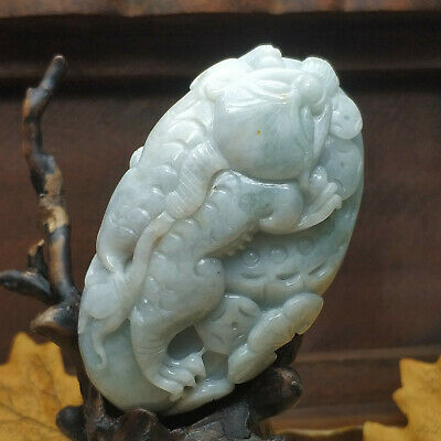 AAAAA Chinese Hand-carved aristocratic wearing Jadeite jade pendant brave troops