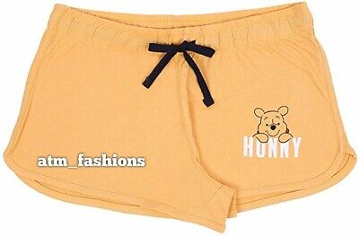 Primark Disney Yellow, Short Pyjama Bottoms for Ladies Winnie The Pooh
