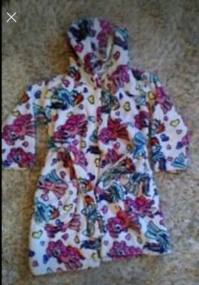 Girls My Little Pony Fluffy Dressing Gown - Age 4-5 - Excellent Condition