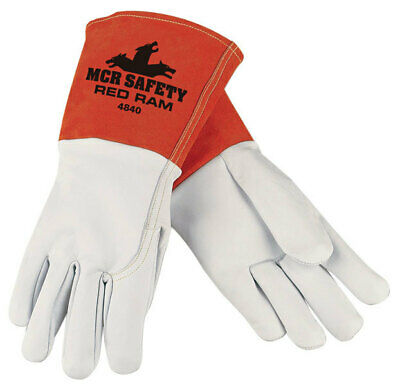 Memphis 4840L Red Ram MIG/TIG Goatskin Welding Gloves Size Large (12 Pair)