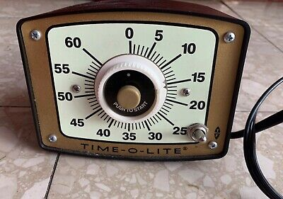 Time-O-Lite Photography Darkroom Timer Model GR-90 Mint Condition
