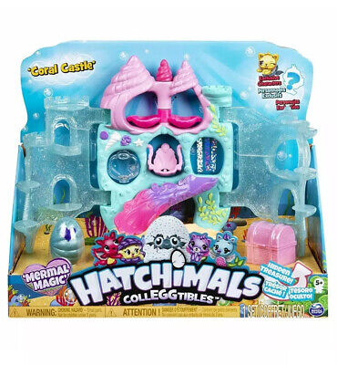 Hatchimals CollEGGtibles,Coral Castle Playset, Mermal Magic, Interactive Toy Fun