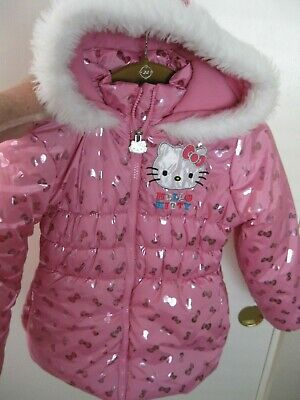 Hello Kitty Girls Pink Coat Size 6X