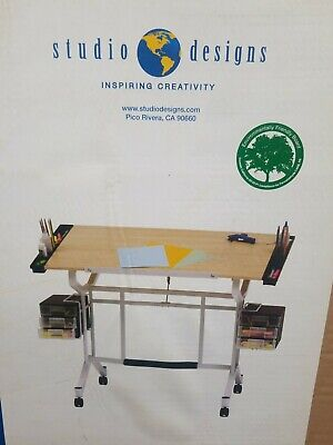 Studio Designs Maple/ White Pro Drafting and Craft Station White