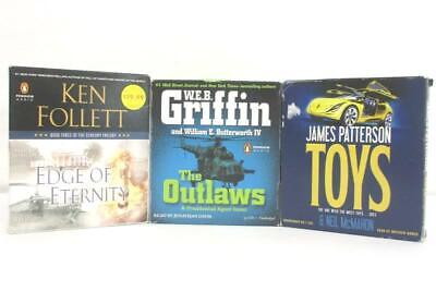 Lot of 3 Audiobook CDs James Patterson's Toys + Edge Of Eternity + The Outlaws