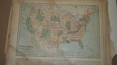 Color Maps from Natural Geography 1901 World US Countries