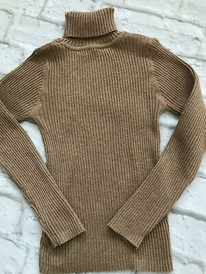 Age 6 Next Brown Polo neck Jumper