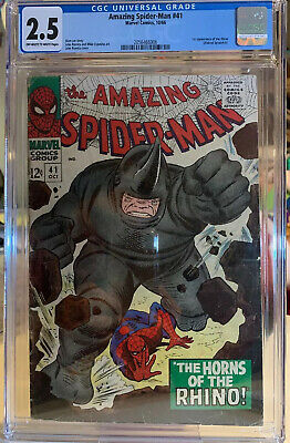 Amazing Spider-Man #41 2.5 CGC 1st Appearance of Rhino 1966
